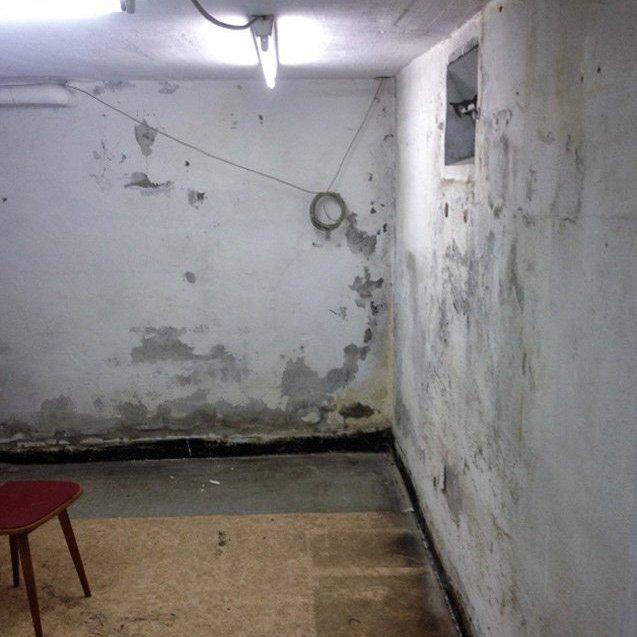 Feuchte Mauer vor unserer Gebäudetrocknung